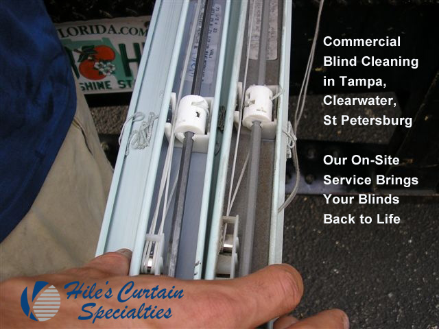Hile's On Site Commercial Blind Cleaning in Tampa