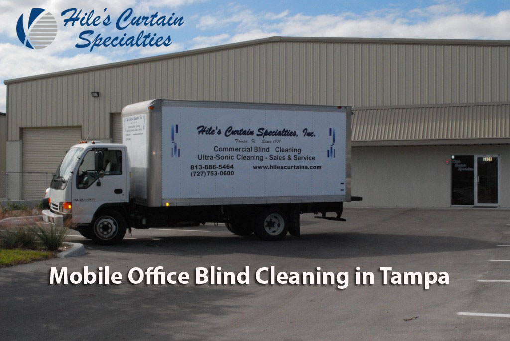 Mobile Office Blind Cleaning in Tampa