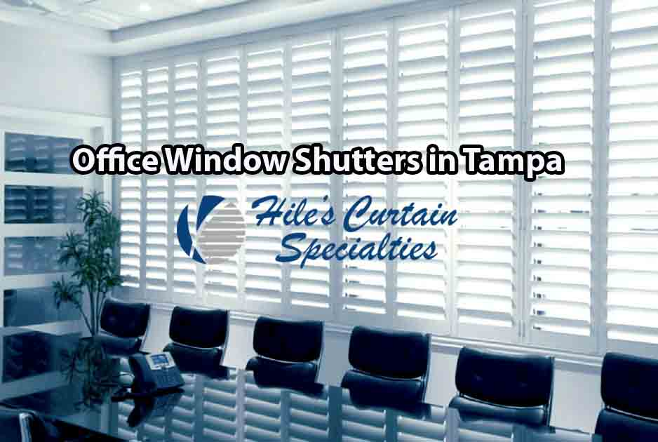 Yes... even stylish window shutters - Office window covering in Tampa
