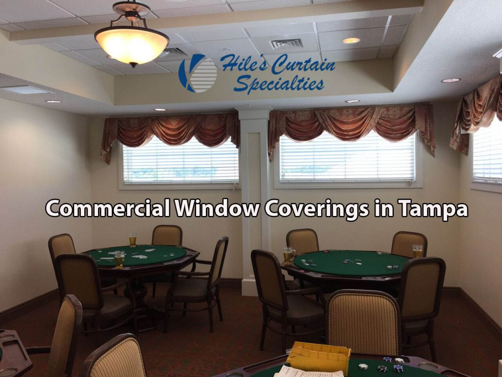 custom window treatments in tampa - restaurants