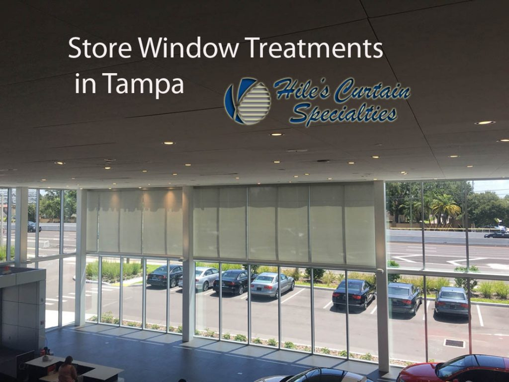Store Window Treatments In Tampa Hiles Curtains Specialties