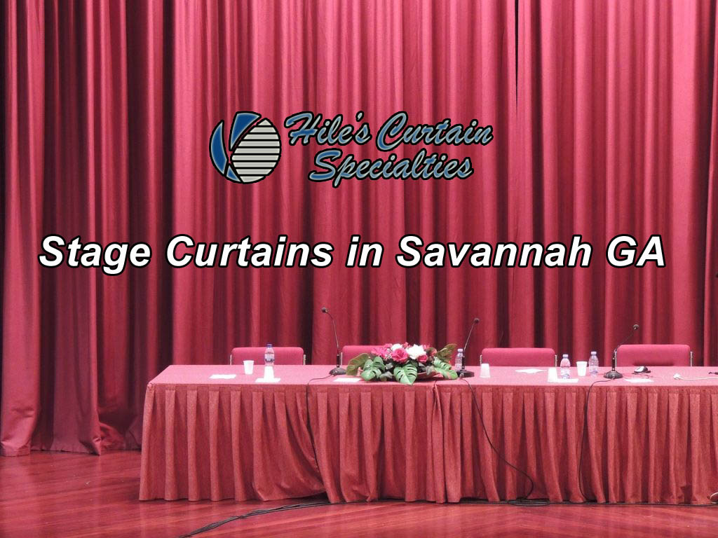 Stage Curtains in Savannah GA