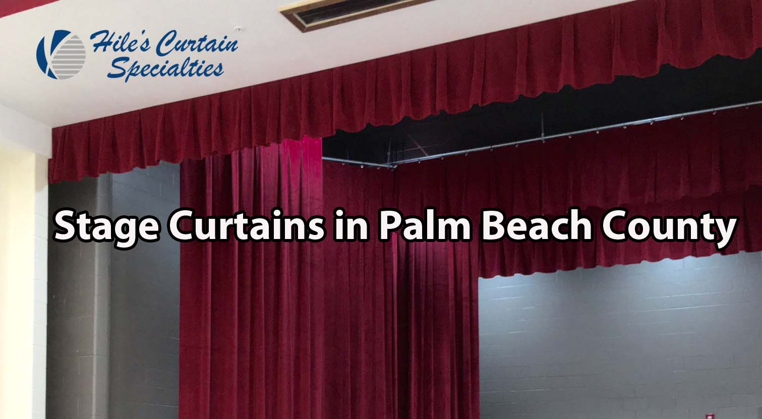Stage Curtains in Palm Beach County Florida