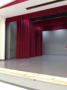 School stage curtains in Volusia County