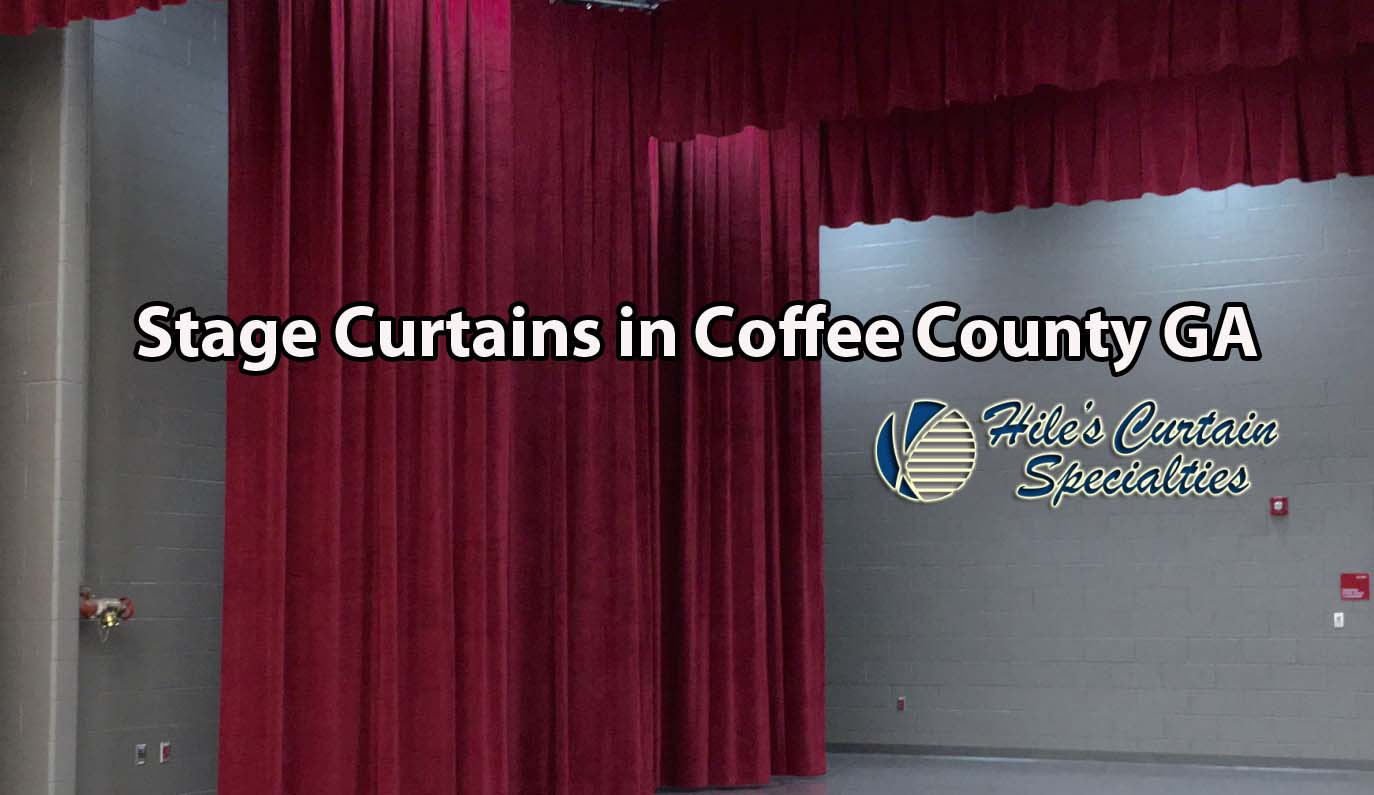 Stage Curtains in Coffee County GA