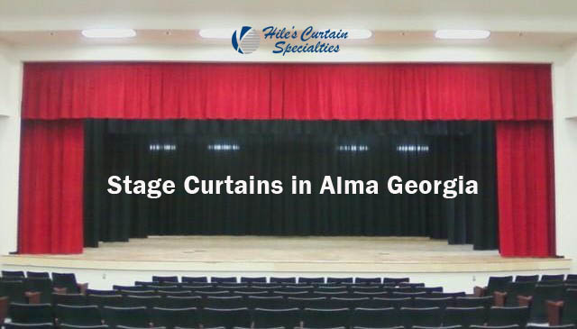 Stage Curtains in Bacon County GA - red stage curtains