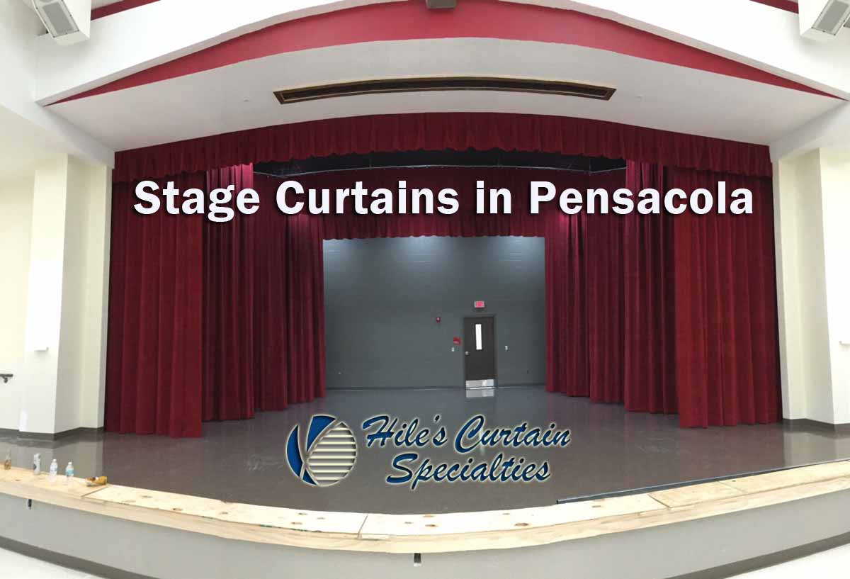 Stage curtains in Pensacola