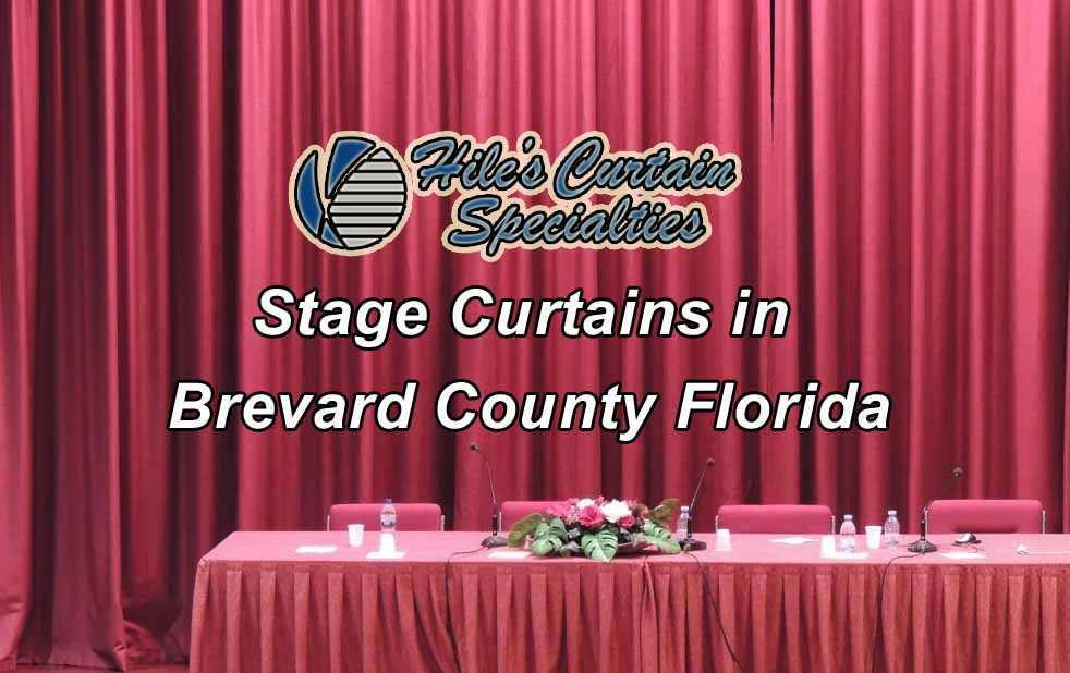Stage curtains in Brevard County - Hiles Curtain Specialties