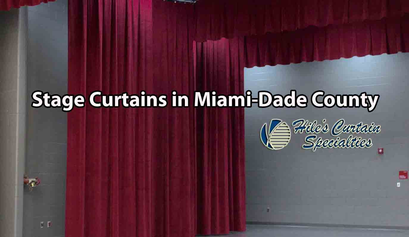 Stage Curtains in Miami-Dade County
