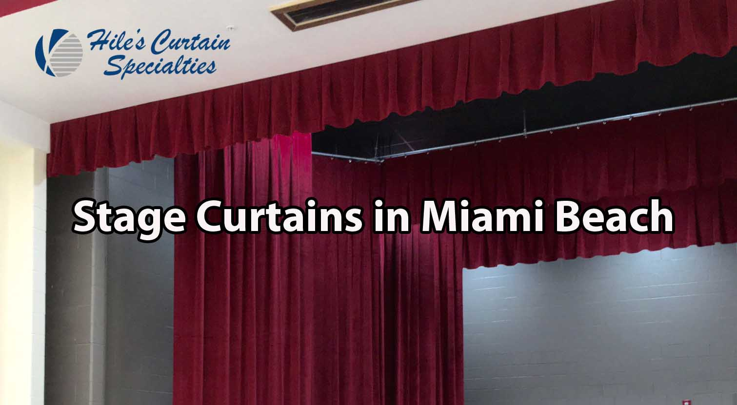 Stage Curtains in Miami Beach