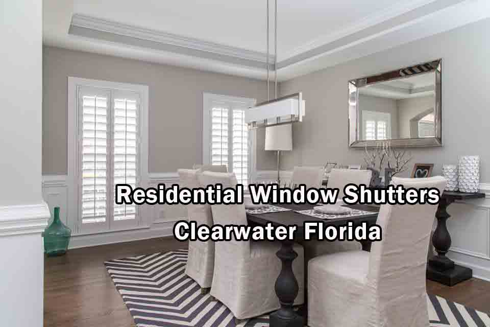 Residential Window Shutters - Clearwater