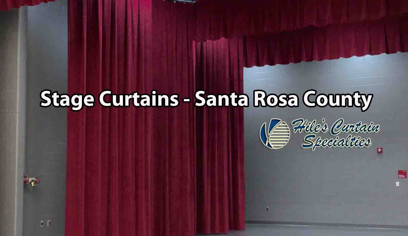 Stage Curtains - Santa Rosa County