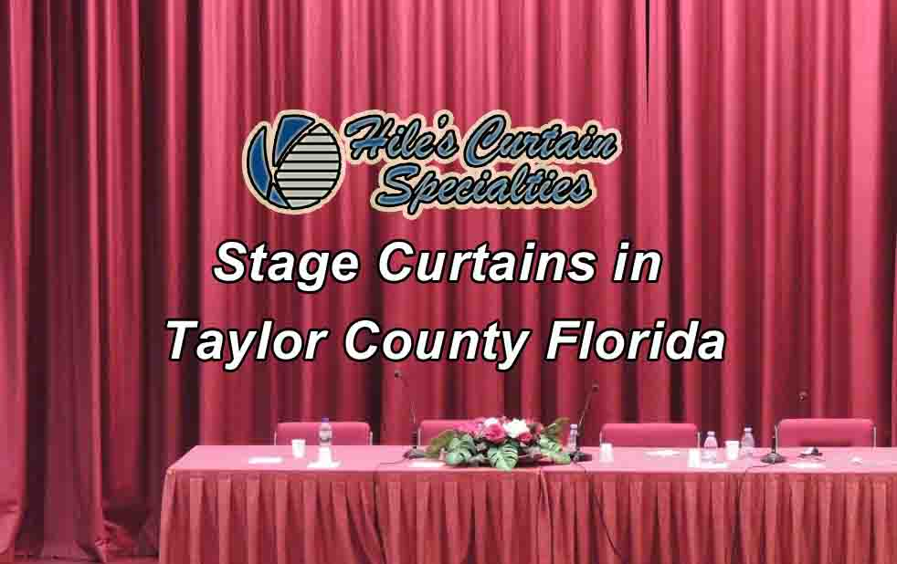 Stage Curtains - Taylor County Florida